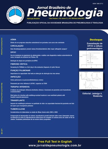 31ea02788 Jornal Brasileiro de Pneumologia - Volume 39 - Número 3 (Maio Junho ...