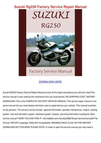 suzuki rg 250 1983 1990 service repair manual download