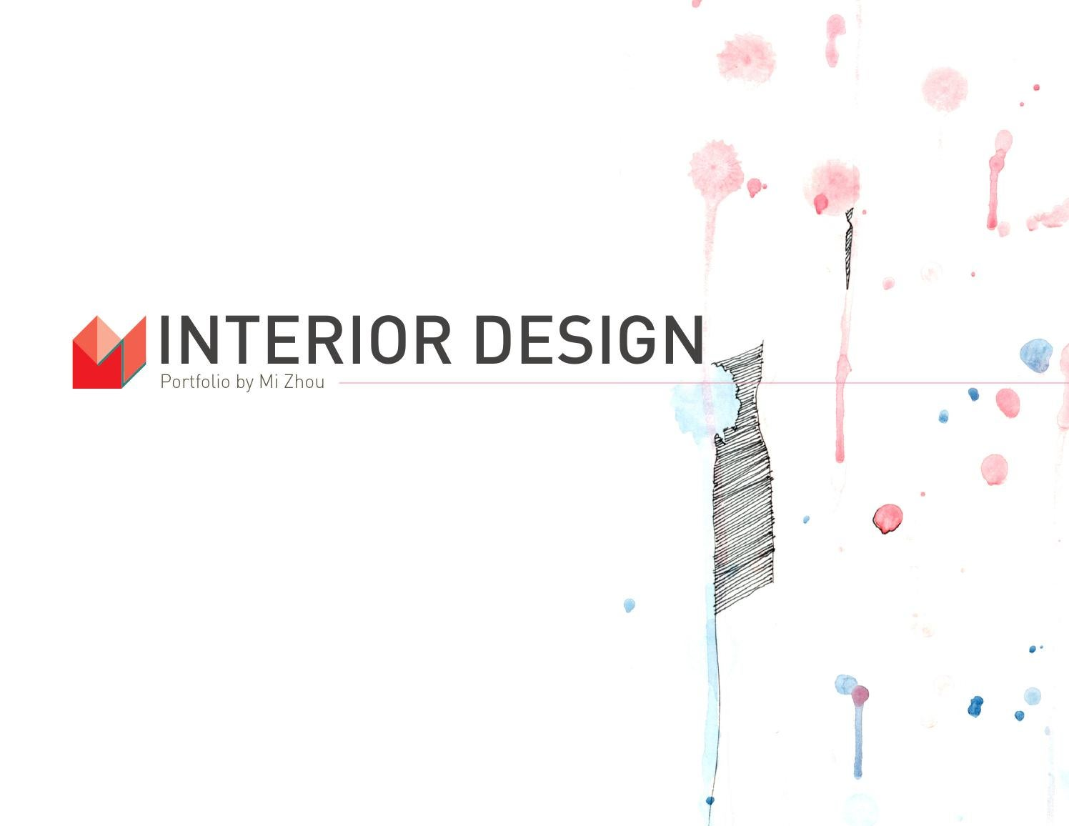 New interior design portfolio 2013 by mia zhou issuu for Interior design portfolio