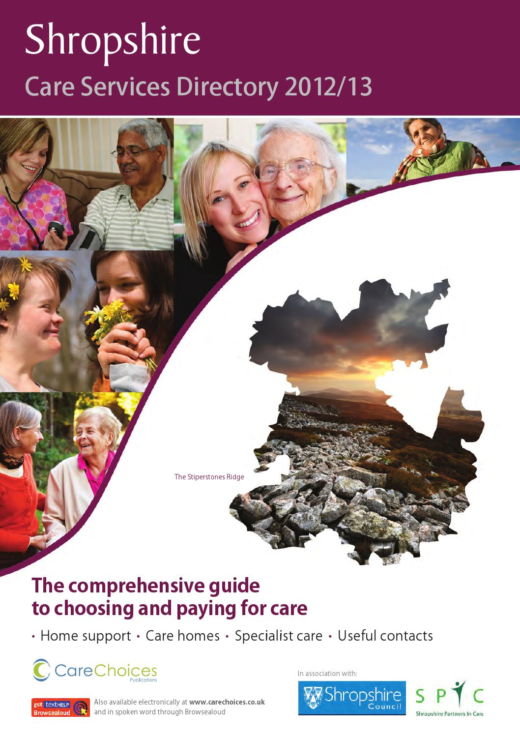 Shropshire Care Services Directory 2012 13 By Choices Ltd