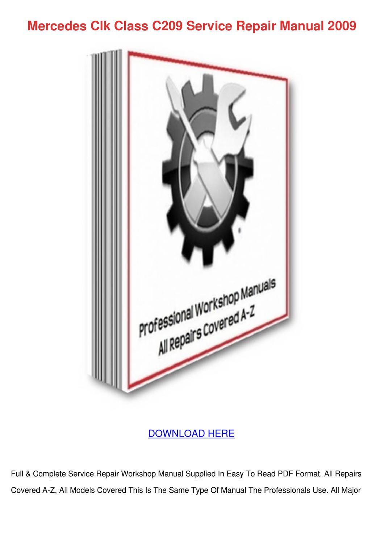 mercedes b class workshop manual pdf