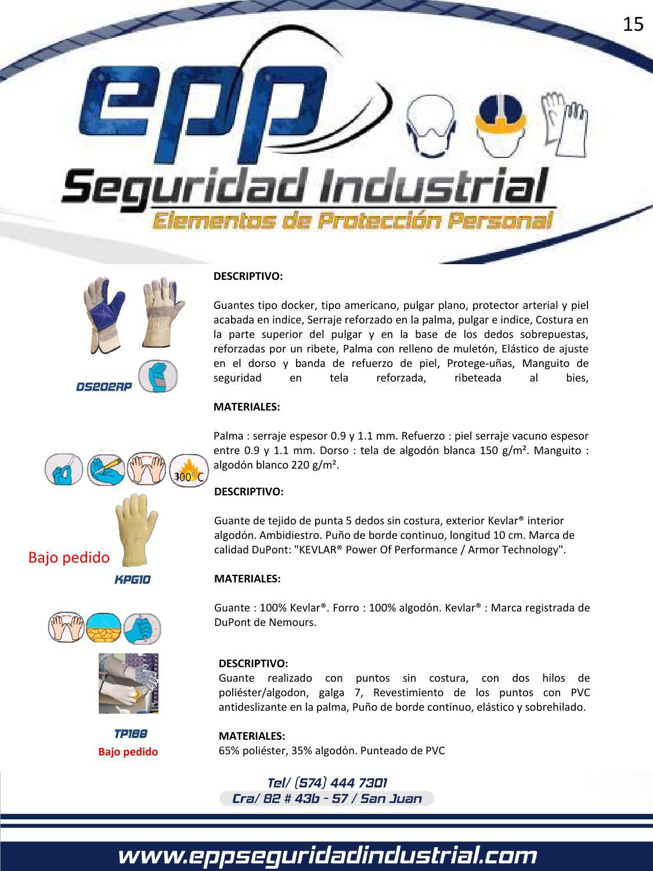 18865dbf72 Catalogo de productos epp seguridad industrial by epp seguridad industrial  - issuu