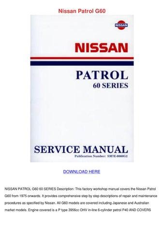 Nissan Patrol G60 by ValerieSheppard - issuu