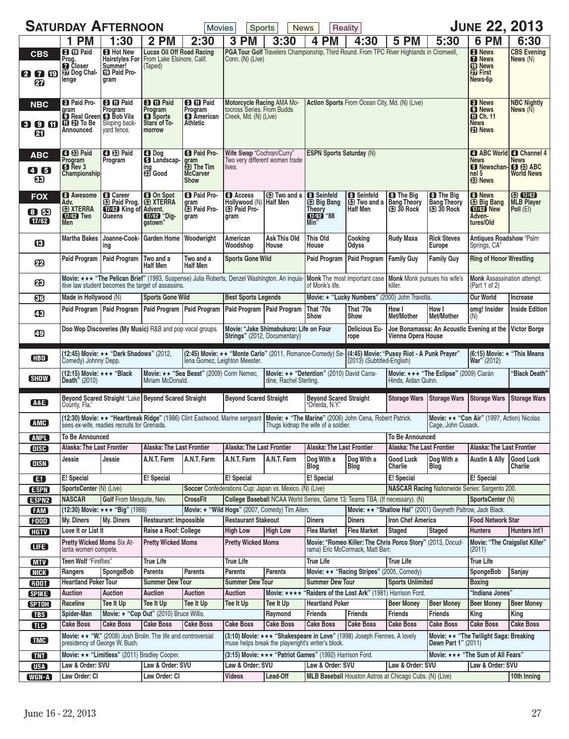 Morning Journal - TV Listings 6-16 - 6-22-2013 by Morning