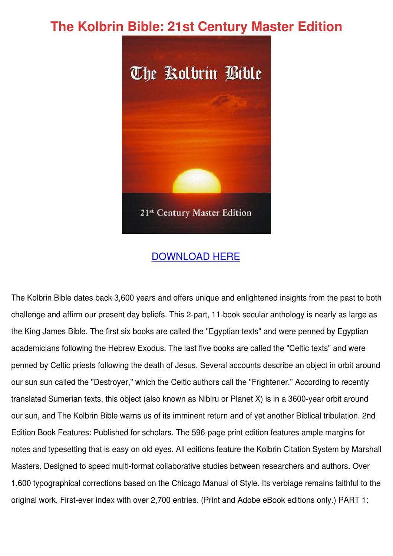 The Kolbrin Bible 21st Century Master Edition by JackiGoddard - issuu