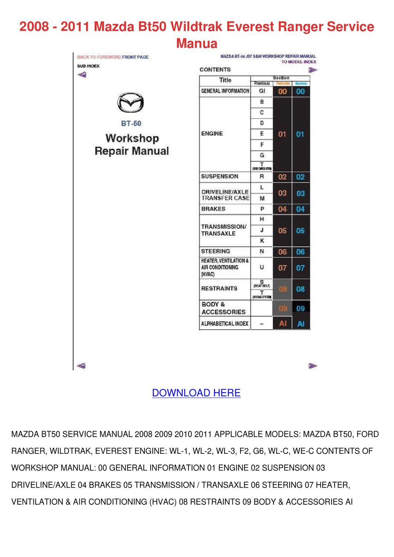 2008 2011 Mazda Bt50 Wildtrak Everest Ranger by DonnyCollette - issuu