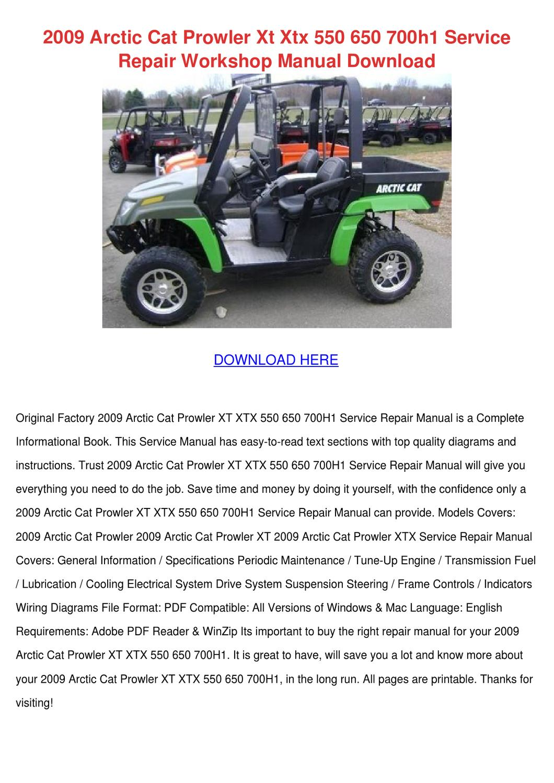 2009 Arctic Cat Prowler Xt Xtx 550 650 700h1 by ...