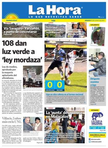 Diario La Hora Loja 15 de Junio 2013 by Diario La Hora Ecuador - issuu 3b4cbf15fba9d