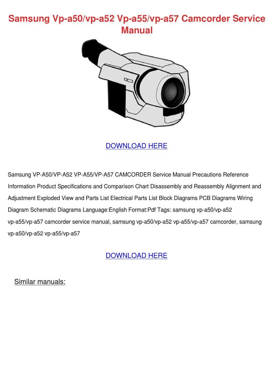 Samsung Vp A50vp A52 Vp A55vp A57 Camcorder S By Wendytoth