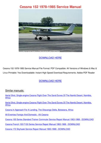cessna 152 1978 1985 service manual by kirkhuang issuu rh issuu com cessna 150 g service manual cessna 152 service manual red