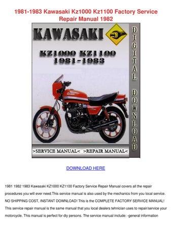 1981 1983 Kawasaki Kz1000 Kz1100 Factory Serv by IsraelCrayton - issuu