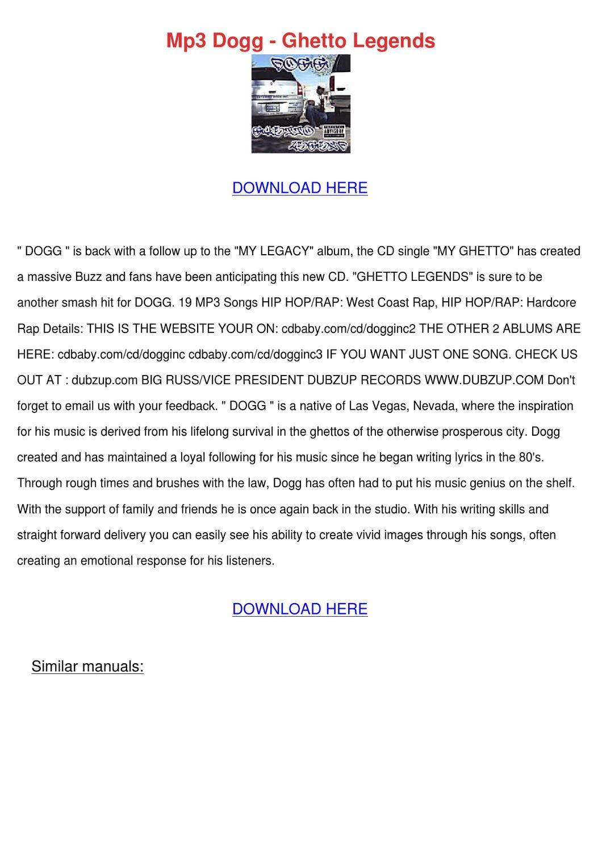 Mp3 Dogg Ghetto Legends By Barbrawray Issuu