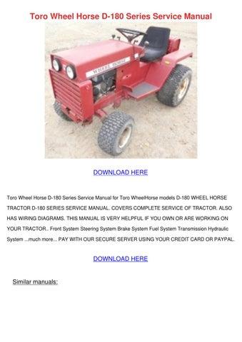 toro wheel horse d 180 series service manual by. Black Bedroom Furniture Sets. Home Design Ideas