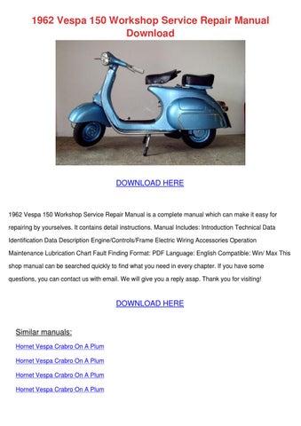 piaggio vespa lx150 4t usa service repair manual download