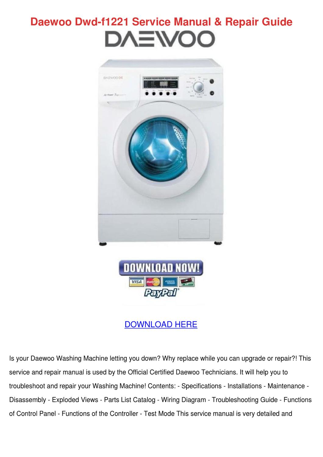 Daewoo Washing Machine Wiring Diagram Just Another Motor View Dryer Home Rh 14 20 1 Medi Med Ruhr De Kenmore Washer