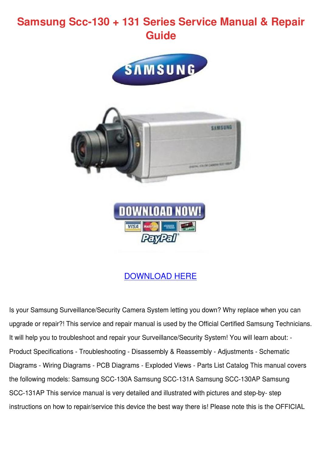 samsung scc 130 131 series service manual rep by inagarnett issuu
