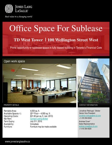 Financial core toronto office space large june 2013 by Chris