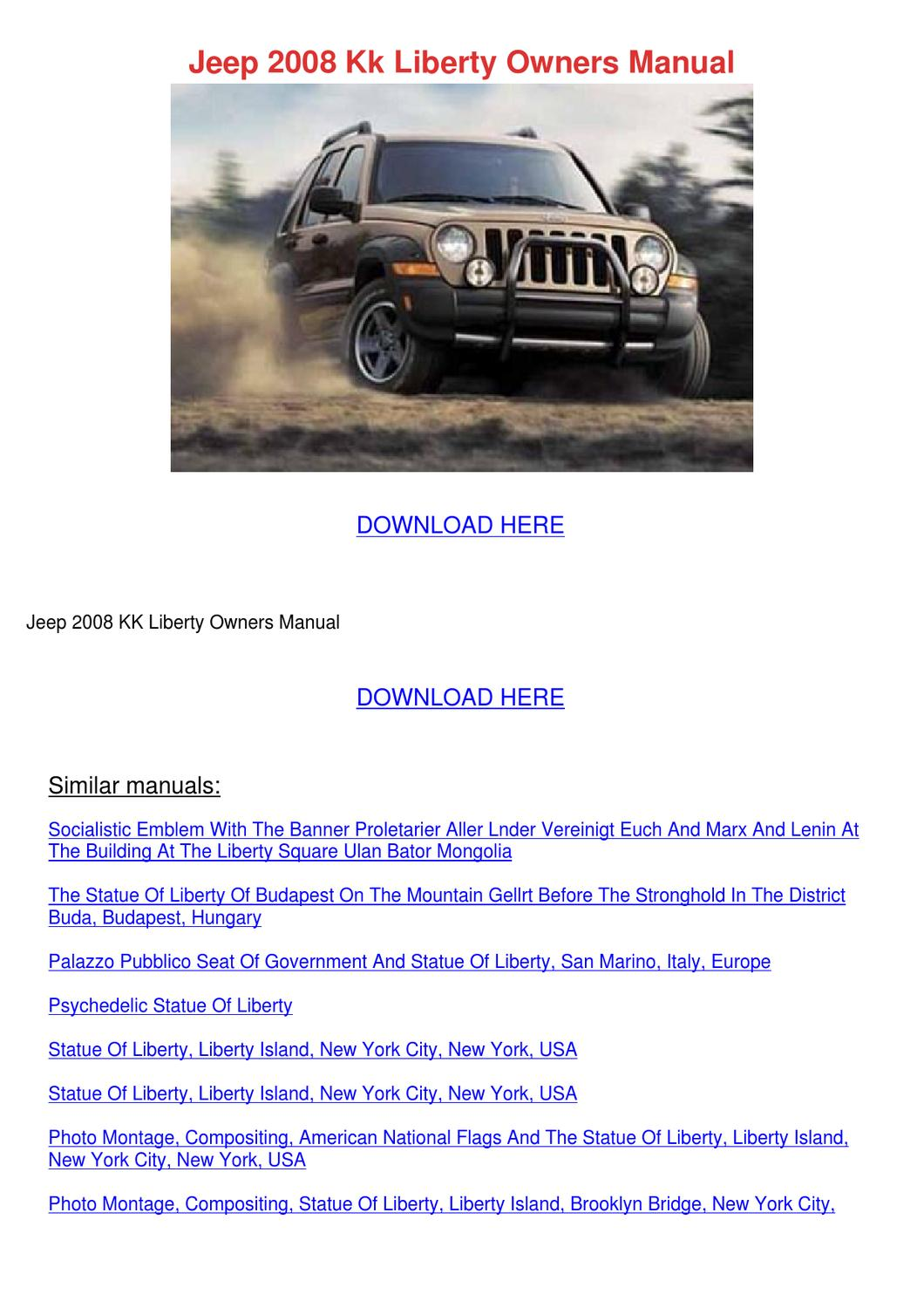 Jeep 2008 Kk Liberty Owners Manual by PercyOakley - issuu