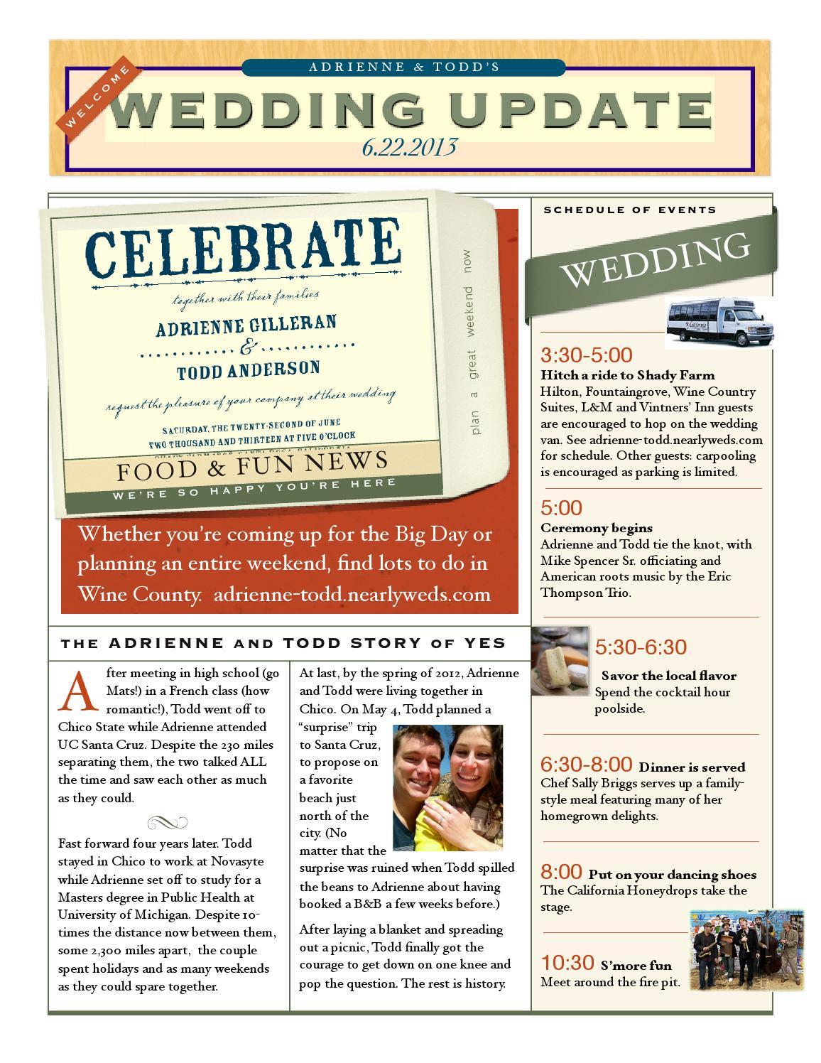wedding weekend newsletter by todd anderson issuu