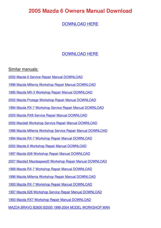 mit Array - 2005 mazda 6 owners manual download by kimheim issuu rh issuu  ...