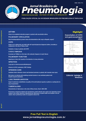 72358e81eb Brazilian Journal of Pulmonology - Volume 39