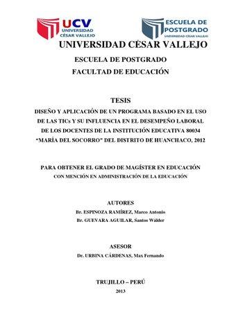 tesis tics y desempe241o laboral docente by marco antonio