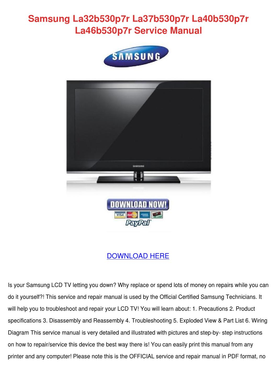 Samsung La32b530p7r La37b530p7r La40b530p7r L by FrederickaEgan ...