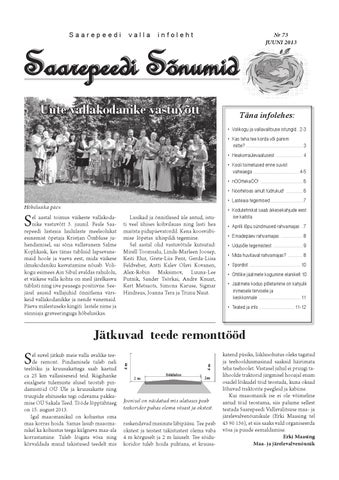 ff85c65eb24 Saarepeedi Sõnumid juuni 2013 by Saarepeedi vald - issuu