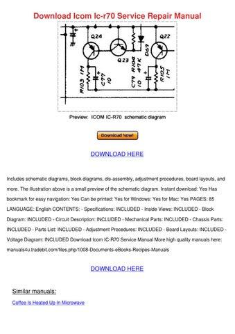 icom ic 7000 service manual pdf