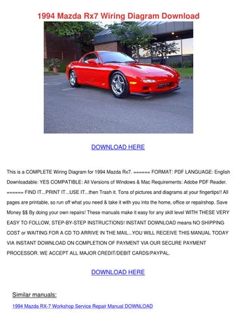 1994 mazda rx7 wiring diagram download by terrancesisco issuupage 1 1994 mazda rx7 wiring diagram download