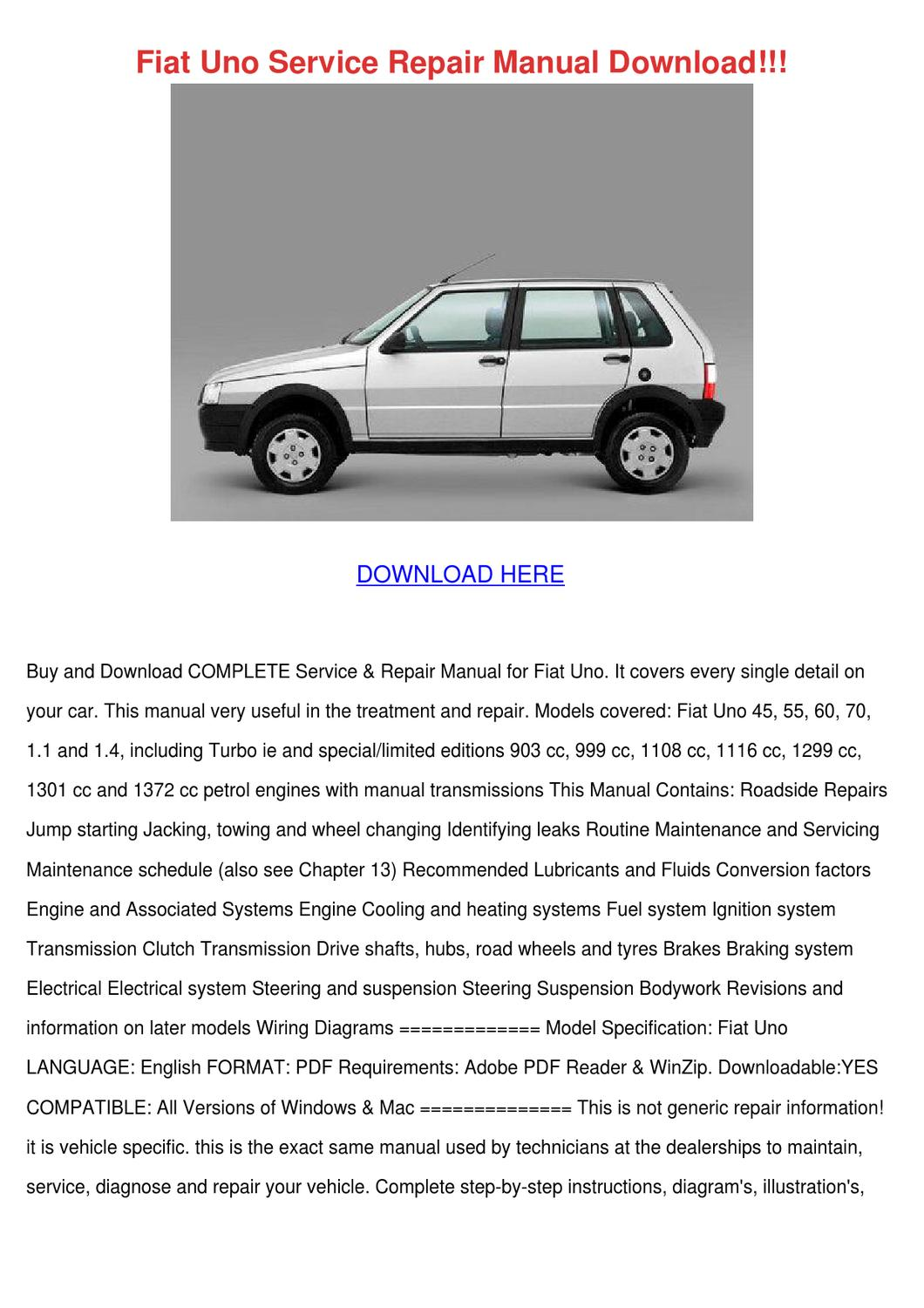 fiat uno service repair manual download by unarobison issuu. Black Bedroom Furniture Sets. Home Design Ideas