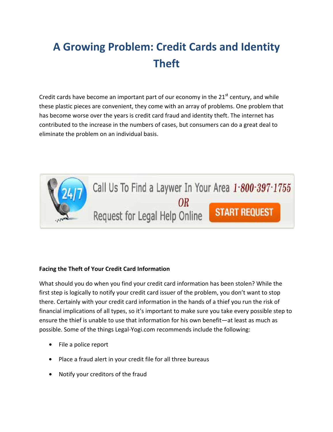 A Growing Problem Credit Cards And Identity Theft By Jesmin Poll Issuu
