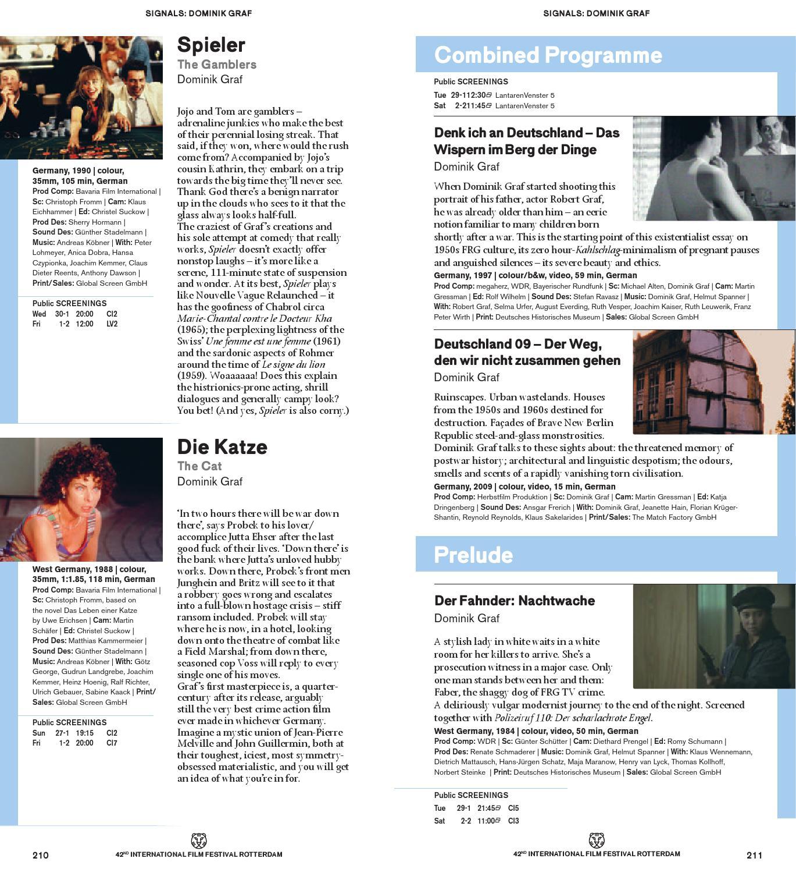Anica Dobra Spieler catalogue international film festival rotterdam 2013