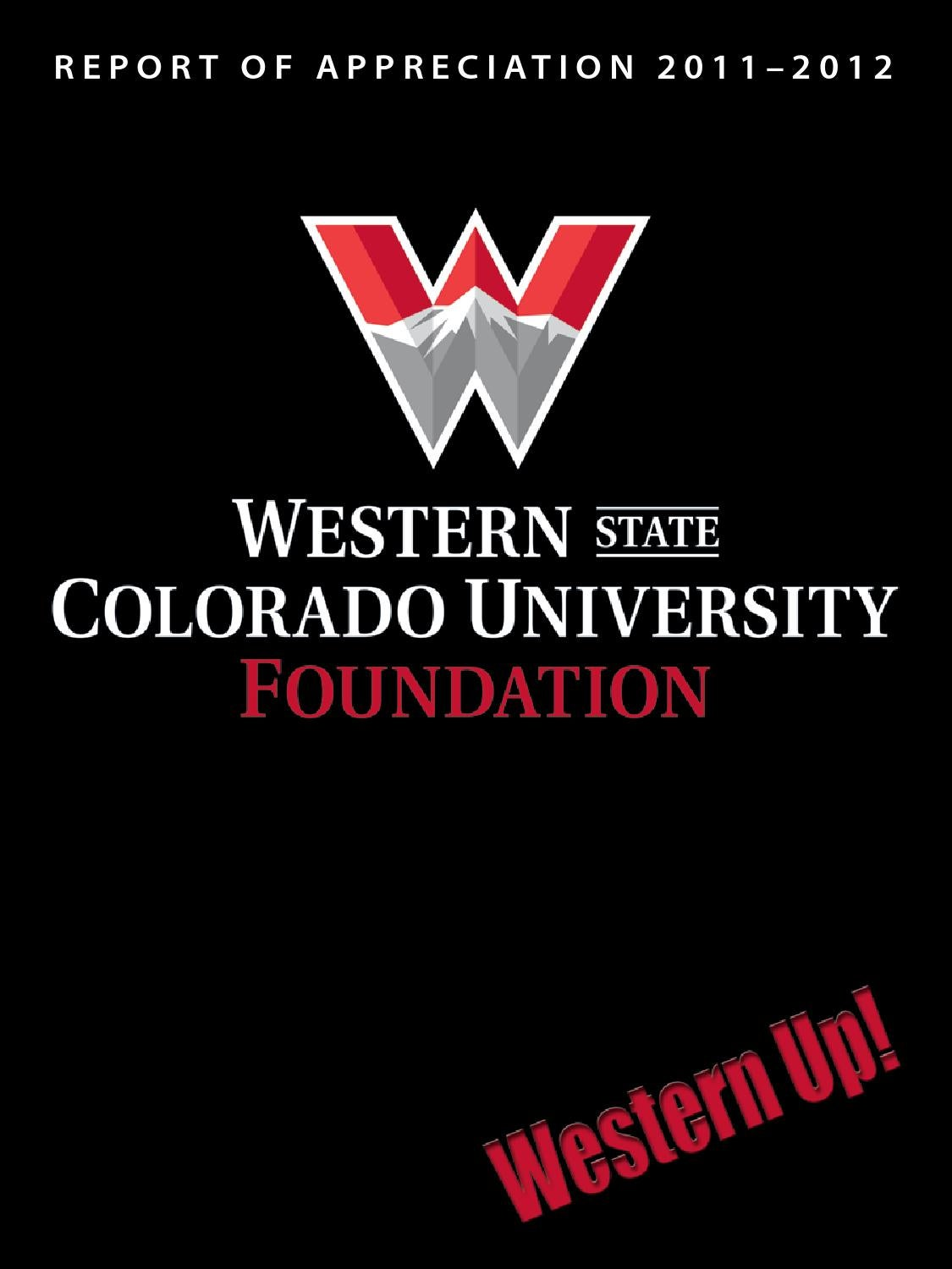 Western State Colorado University Foundation Report Of