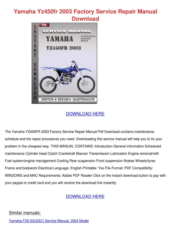 Service manual Yamaha Ef3000iseb on