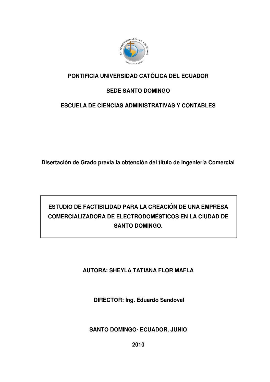 Estudio de factibilidad créditos flor Cia Ltda Sheyla Flor by ...