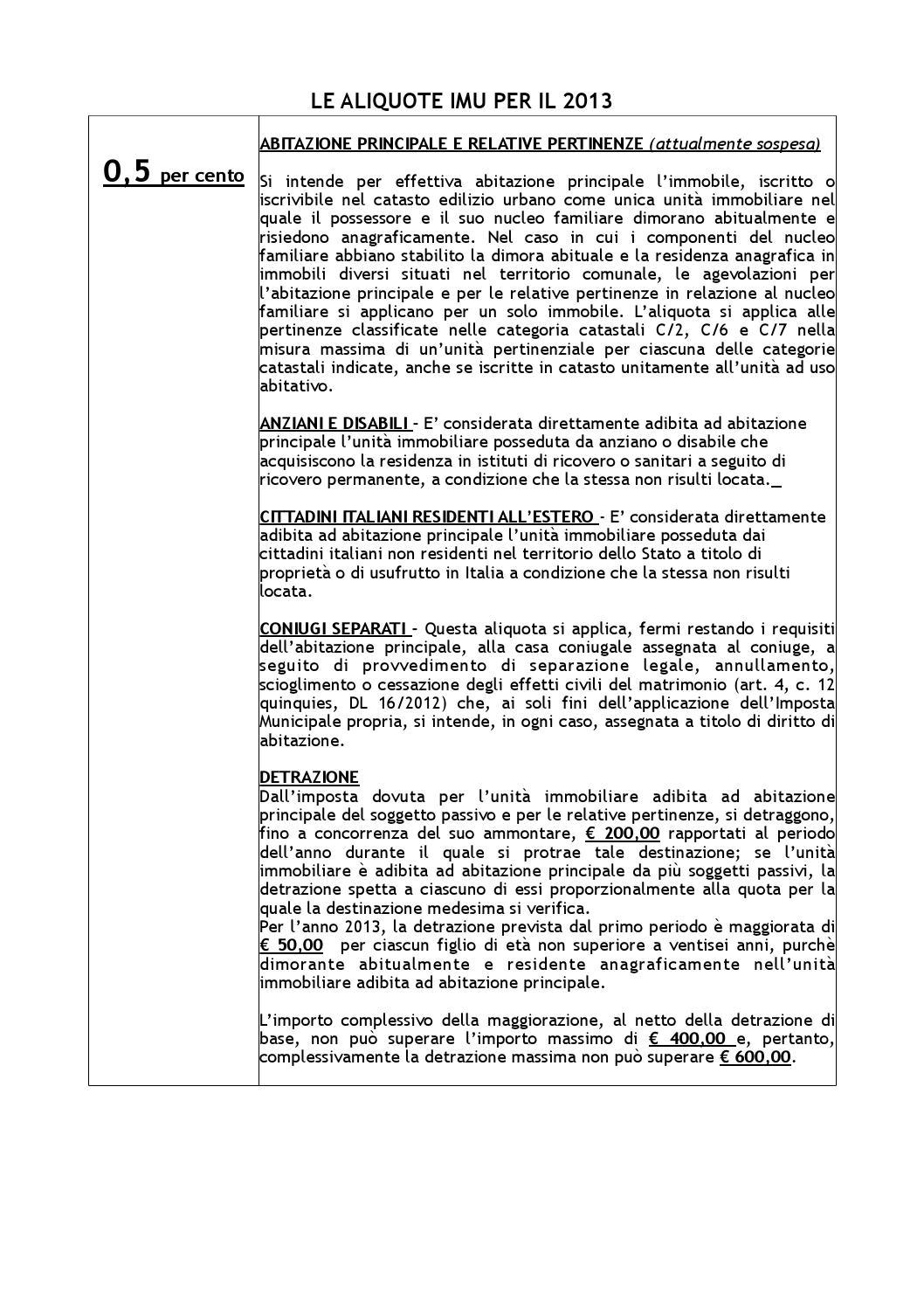 Aliquote 2013 Emilia Imu Di Reggio Comune Issuu By jLqMVzUGpS