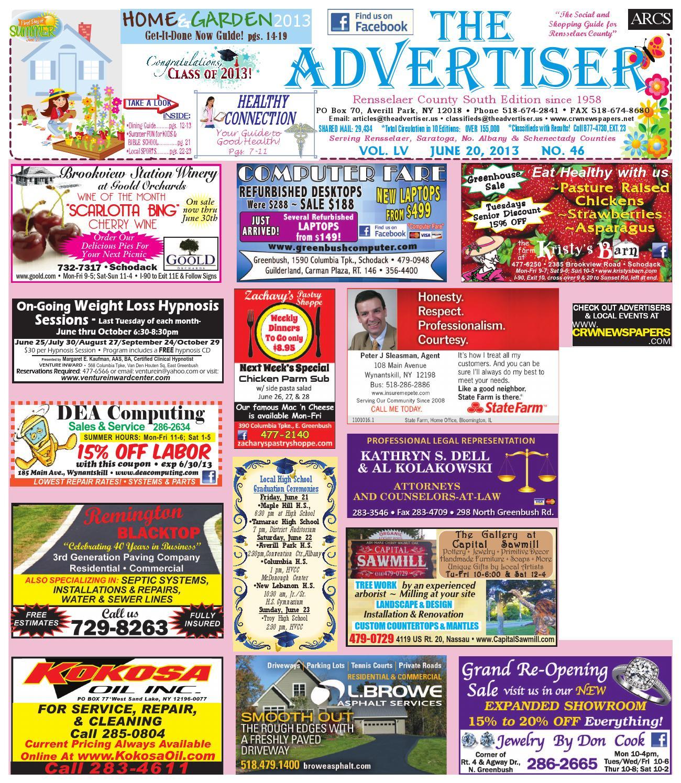 0c91b3d57b50 Advertiser South 062013 by Capital Region Weekly Newspapers - issuu