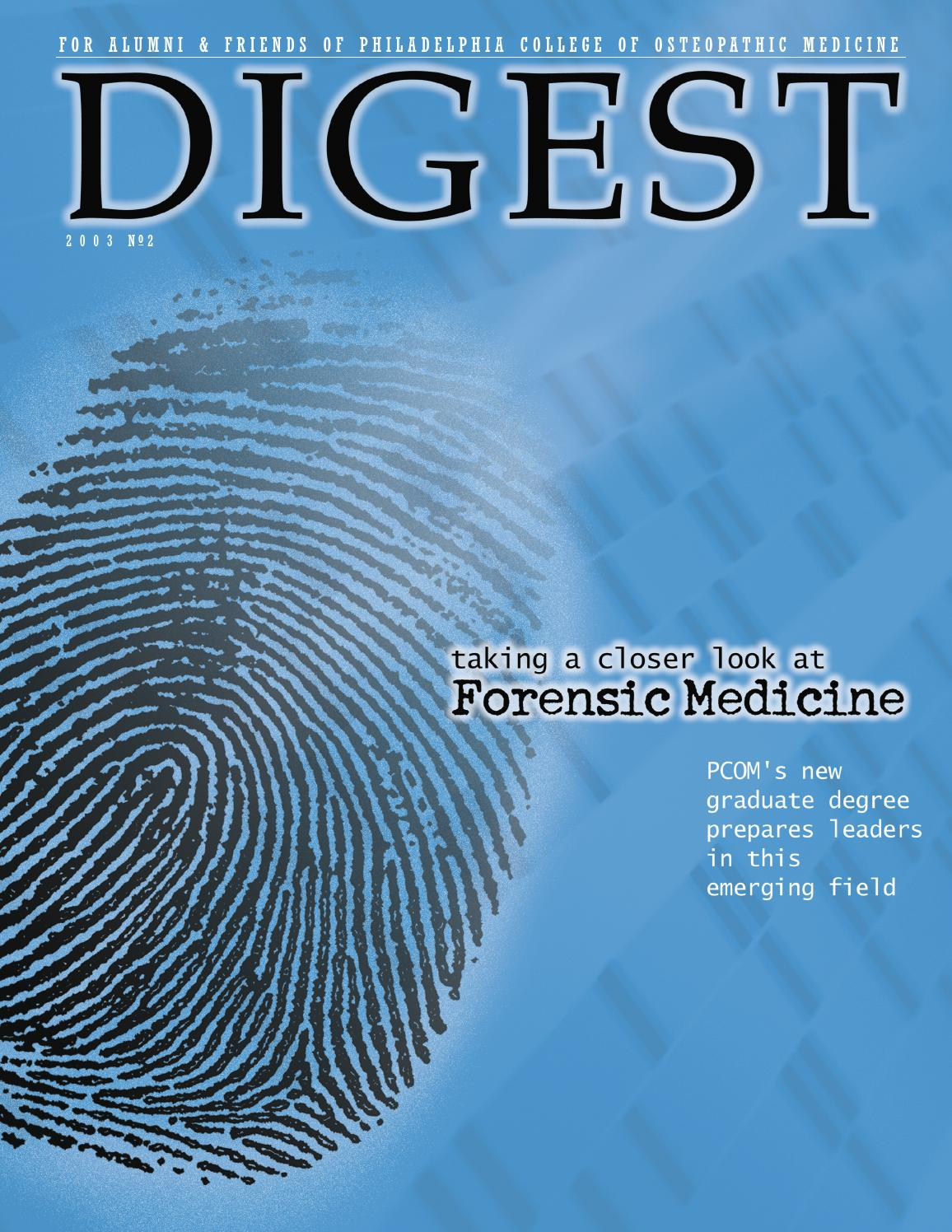 2003 digest no2 by Philadelphia College of Osteopathic