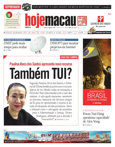 Hoje Macau 19 JUN 2013  2874 by Jornal Hoje Macau - issuu 5002db2f8491b