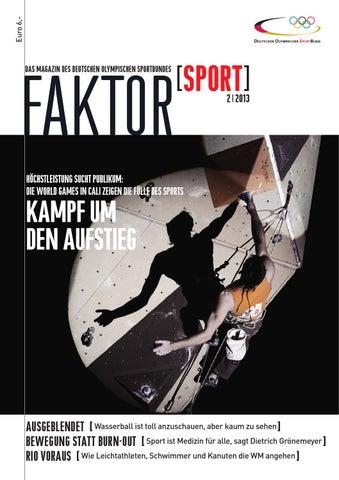 Faktor Sport 22013 By Deutscher Olympischer Sportbund Dosb Issuu