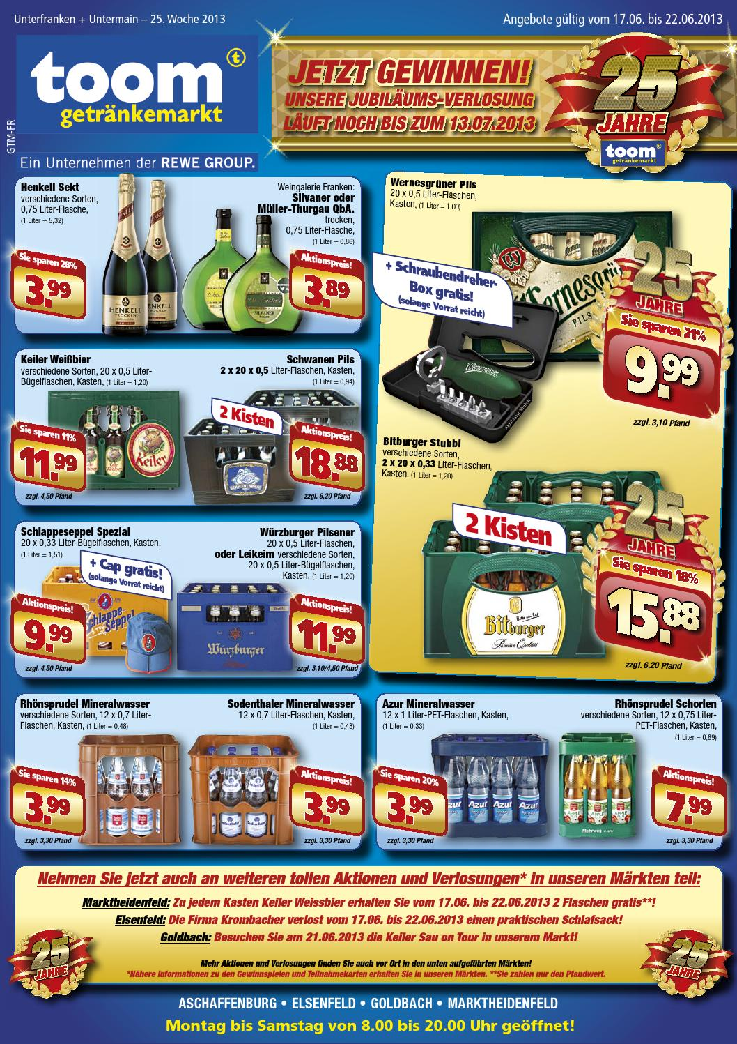 Toom Getränkemarkt Katalog gültig bis 22/06 by broshuri - issuu