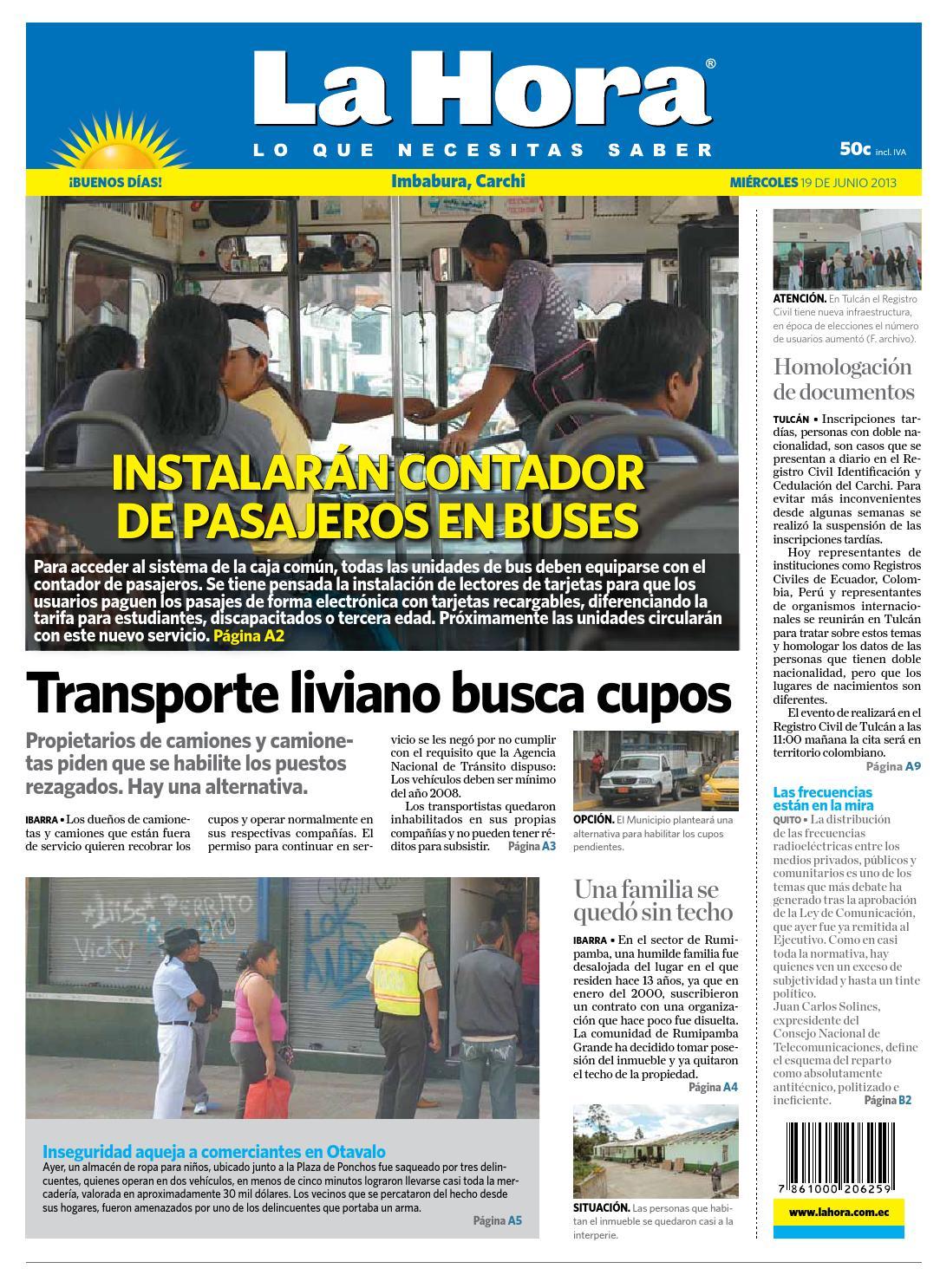 6aaeb2fc40c55 Imbabura Carchi 19 de junio de 2013 by Diario La Hora Ecuador - issuu