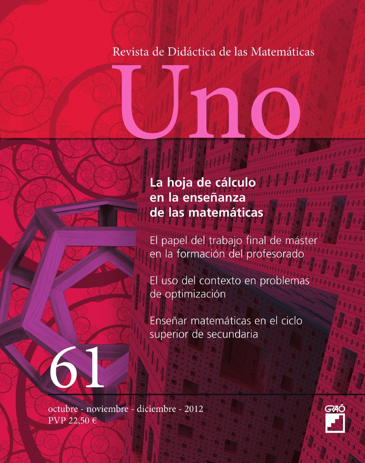 UNO. Didáctica de las Matemáticas by Editorial Graó - issuu