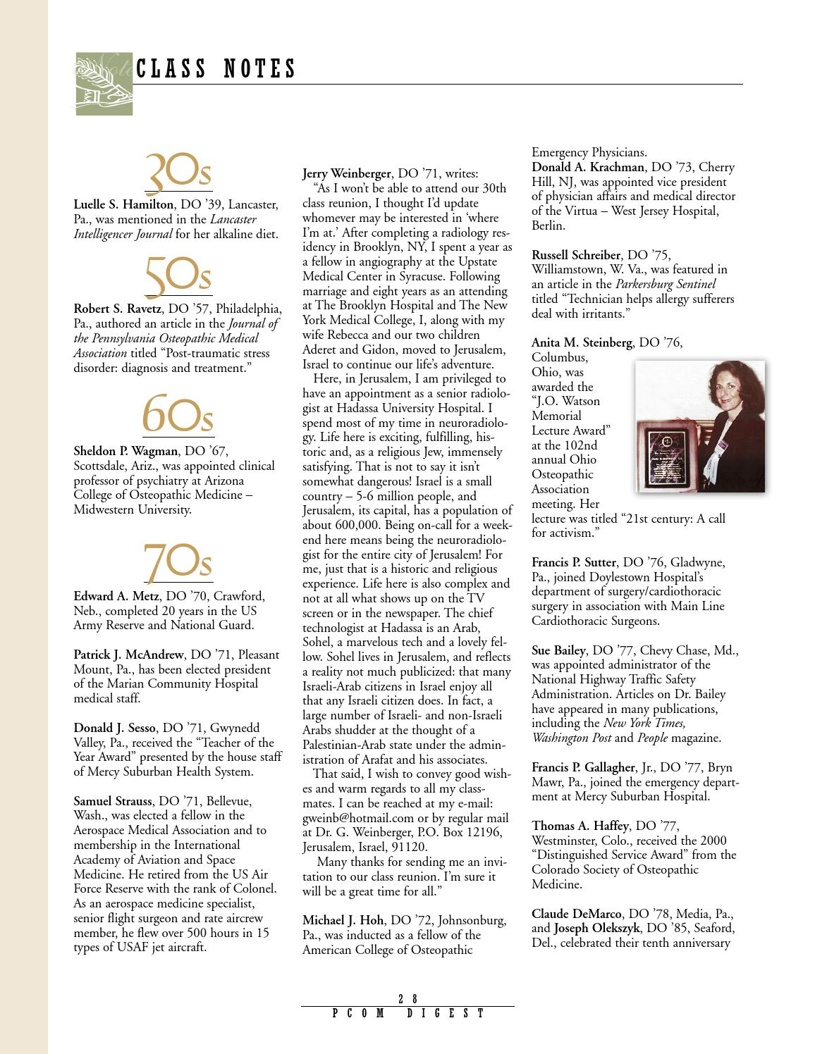 2001 digest no1 by Philadelphia College of Osteopathic
