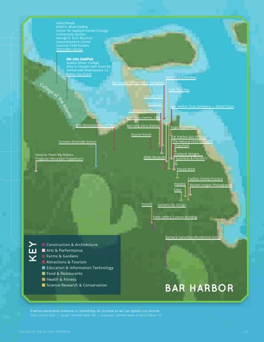 Coa Campus Map.Coa Magazine Vol 8 No 1 Spring 2012 By College Of The Atlantic