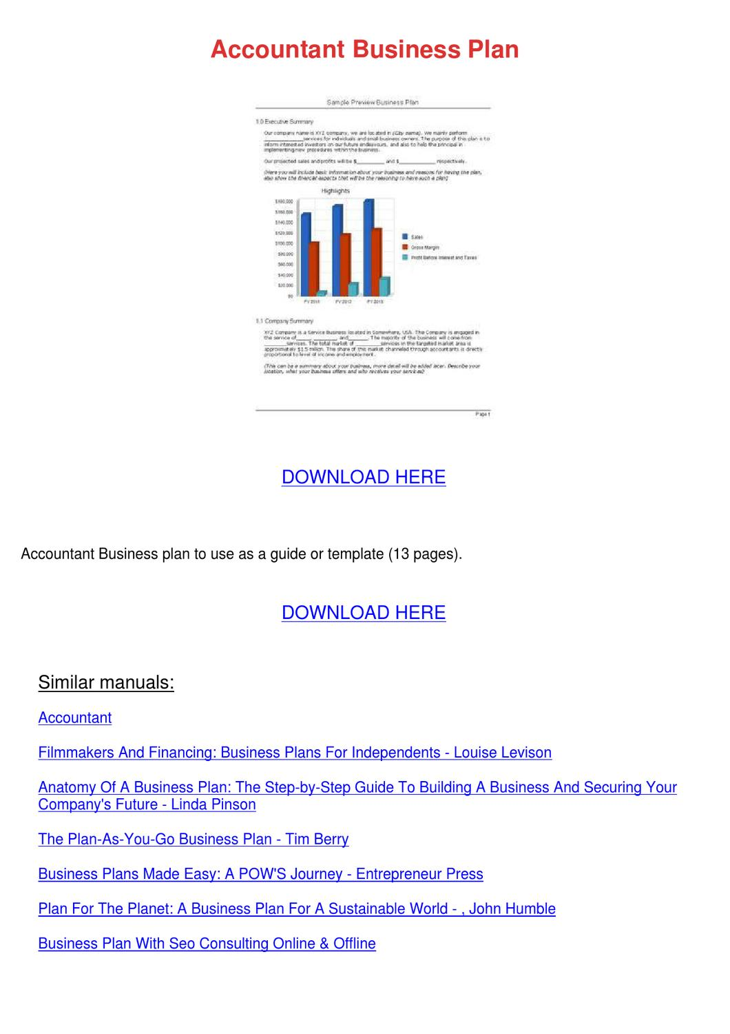 Accountant Business Plan by NellMosher - issuu