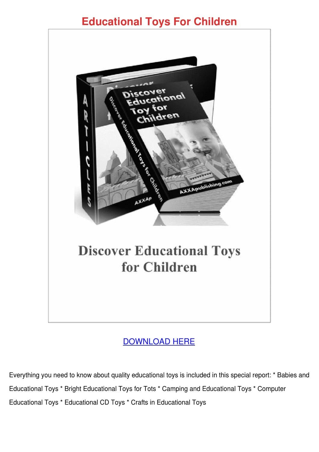 Toys For Tots Logo Pdf : Educational toys for children by kaihawley issuu