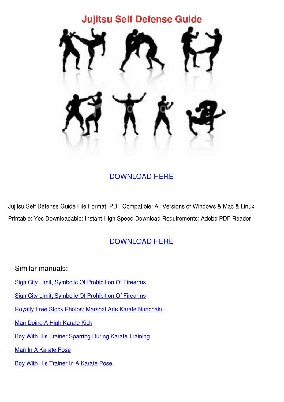 Jujitsu Self Defense Guide by KaiHawley - issuu