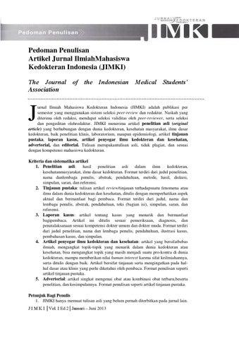 Jimki Edisi 2 By Berkala Ilmiah Mahasiswa Kesehatan Indonesia